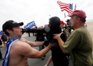 Clashes break out at Trump rally