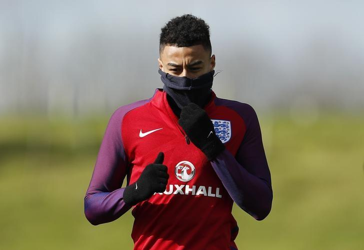 Britain Football Soccer - England Training - St George's Park - 21/3/17 England's Jesse Lingard during training Action Images via Reuters / Lee Smith Livepic/File Photo
