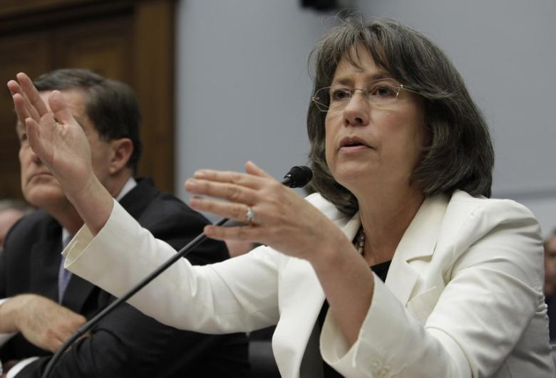 Former FDIC director Sheila Bair testifies before the House Financial Services Committee hearing on ''Examining How the Dodd-Frank Act Could Result in More Taxpayer-Funded Bailouts'' on Capitol Hill in Washington June 26, 2013. REUTERS/Yuri Gripas
