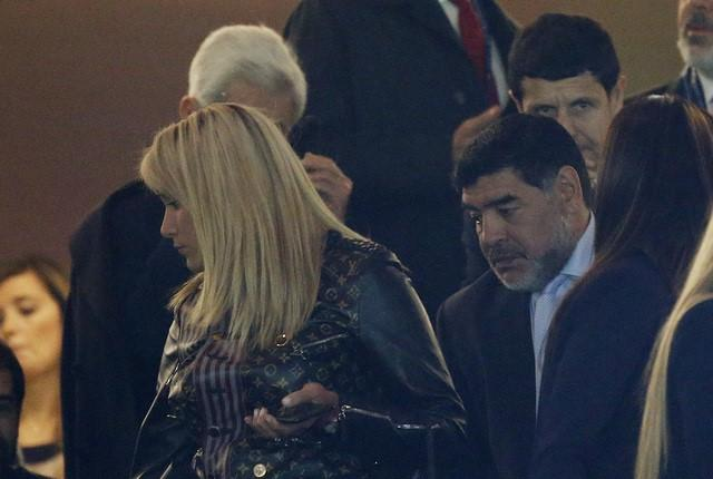 Football Soccer - Real Madrid v Napoli - UEFA Champions League Round of 16 First Leg - Estadio Santiago Bernabeu, Madrid, Spain - 15/2/17 Diego Maradona in the stands Reuters / Susana Vera Livepic