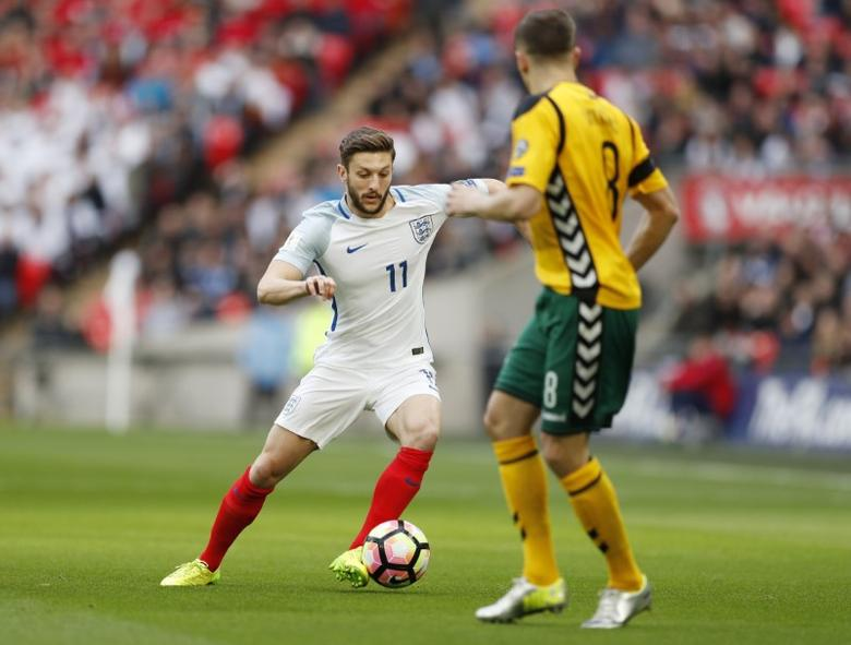 Britain Football Soccer - England v Lithuania - 2018 World Cup Qualifying European Zone - Group F - Wembley Stadium, London, England - 26/3/17 England's Adam Lallana in action Action Images via Reuters / John Sibley Livepic EDITORIAL USE ONLY. - RTX32S7N