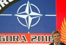 Заместитель генерального секретаря НАТО Роуз Гетемюллер в Подгорице 3 ноября 2016 года. Сенат США во вторник абсолютным большинством голосов поддержал вступление Черногории в НАТО, одобрив расширение альянса, в надежде дать сигнал о том, что Америка будет сопротивляться усилиям России усилить свое влияние в Европе. REUTERS/Stevo Vasiljevic