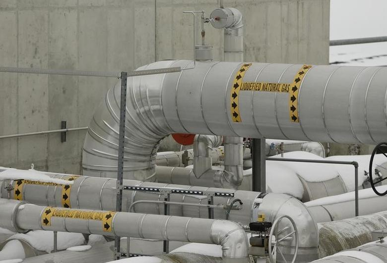 Transfer lines are seen at the Dominion Cove Point Liquefied Natural Gas (LNG) terminal in Lusby, Maryland March 18, 2014. REUTERS/Gary Cameron
