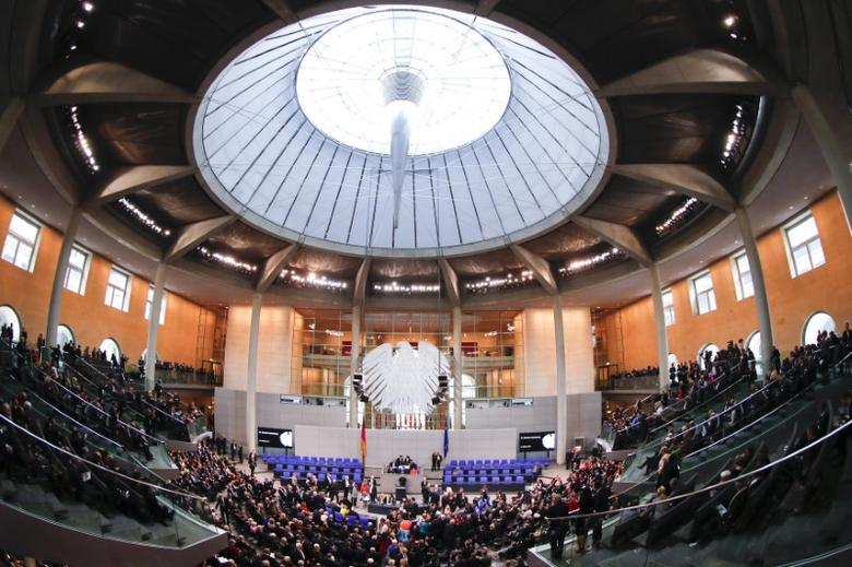 A general view shows Germany's Bundestag (lower house of parliament) before the first round of voting during the German presidential election at the Reichstag in Berlin, February 12, 2017.         REUTERS/Fabrizio Bensch