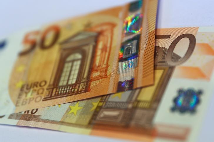 2017年3月16日,德国央行总部展示的新版50欧元纸币。 REUTERS/Kai Pfaffenbach