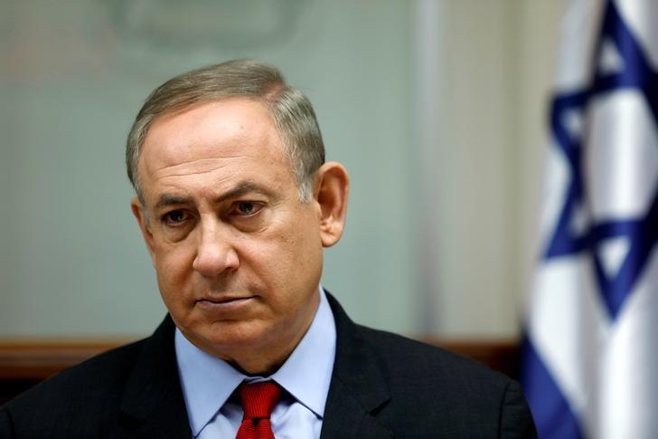 Israeli Prime Minister Benjamin Netanyahu attends a cabinet meeting in Jerusalem March 16, 2017. REUTERS/Amir Cohen/Files