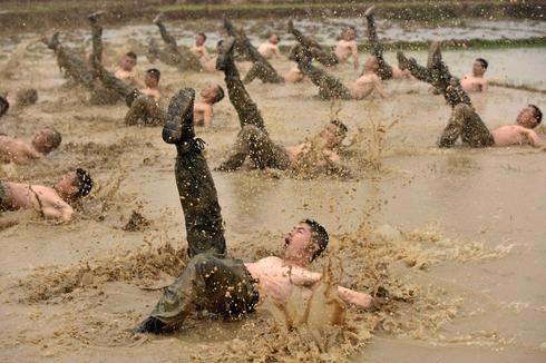 Chinese paramilitary training
