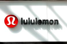 The logo for Lululemon Athletica is seen outside a retail store in New York City, U.S., March 30, 2017. REUTERS/Brendan McDermid