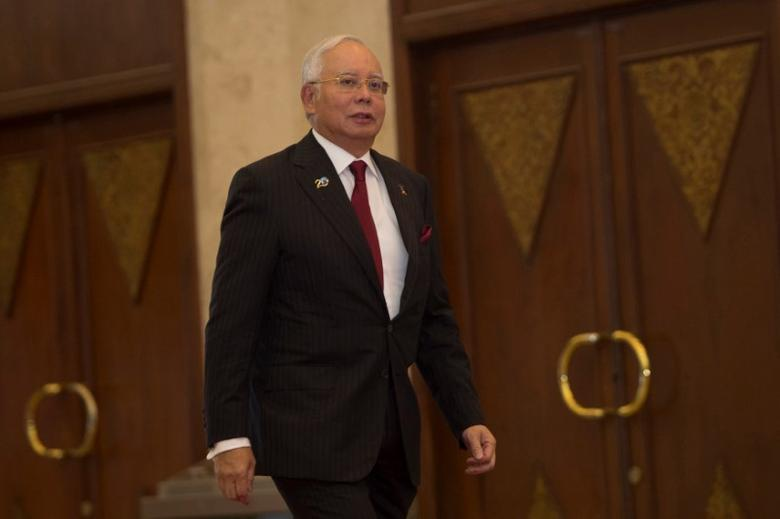 Malaysian Prime Minister Najib Razak arrives at the Indian Ocean Rim Association (IORA) Summit in Jakarta, Indonesia March 7, 2017 in this photo taken by Antara Foto. Antara Foto/Rosa Panggabean/via REUTERS