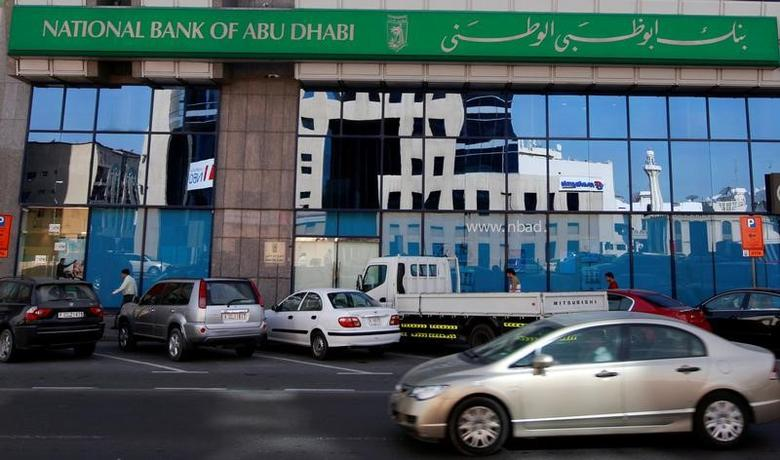 A view of a branch of the National Bank of Abu Dhabi (NBAD) along Khalid Bin Al-Waleed Road in Dubai, UAE, February 3, 2010. REUTERS/Mosab Omar/File Photo