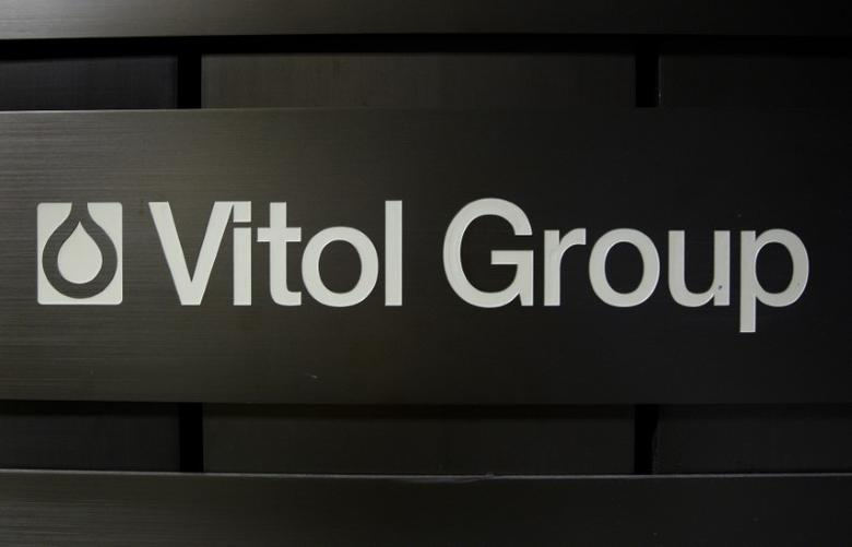 A sign is pictured in front of the Vitol Group trading commodities building in Geneva October 4, 2011. Picture taken October 4, 2011.     REUTERS/Denis Balibouse