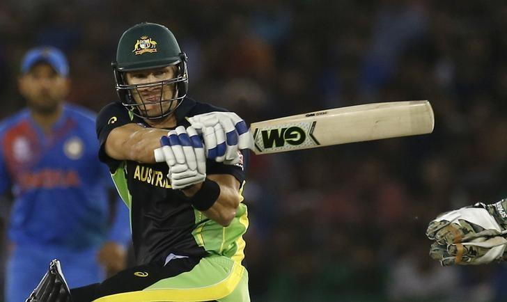 Cricket - India v Australia - World Twenty20 cricket tournament - Mohali, India - 27/03/2016. Australia's Shane Watson plays a shot. REUTERS/Adnan Abidi/Files