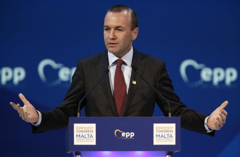 Manfred Weber, Chairman of the European People Party (EPP),  take part in a summit of the party in St Julian's, Malta, March 30, 2017. REUTERS/Darrin Zammit Lupi