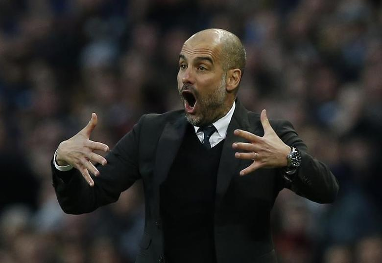 Britain Soccer Football - Manchester City v Liverpool - Premier League - Etihad Stadium - 19/3/17 Manchester City manager Pep Guardiola  Reuters / Andrew Yates Livepic