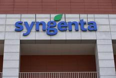 FILE PHOTO: Syngenta's logo is seen at Syngenta Biotech Center in Beijing, China, February 19, 2016.  REUTERS/Kim Kyung-Hoon/File Photo