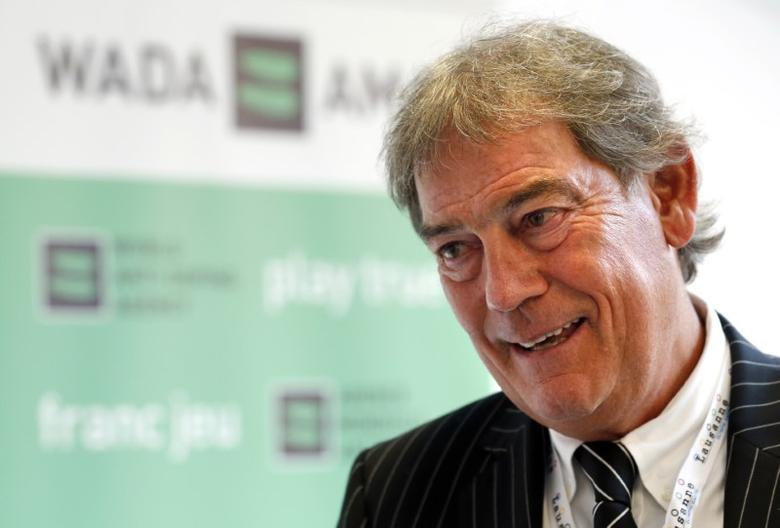 David Howman talks to reporters at the WADA symposium in Lausanne, Switzerland, March 14, 2016.  REUTERS/Denis Balibouse