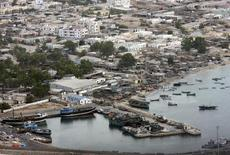 An aerial view taken from a NATO military helicopter shows Somalia's northern port town of Bossaso,  file.  REUTERS/NATO/Handout