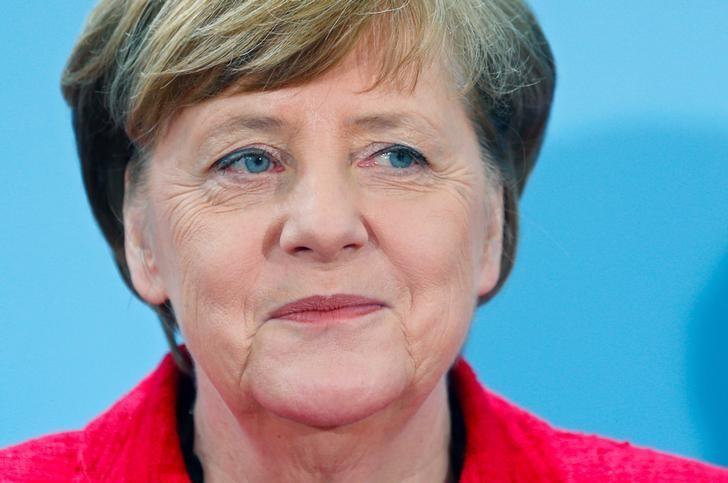 German Chancellor Angela Merkel  in Berlin, Germany, April 7, 2017. REUTERS/Hannibal Hanschke
