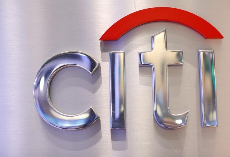 FILE PHOTO: A Citi sign is seen at the Citigroup stall on the floor of the New York Stock Exchange, October 16, 2012.   REUTERS/Brendan McDermid/File Photo