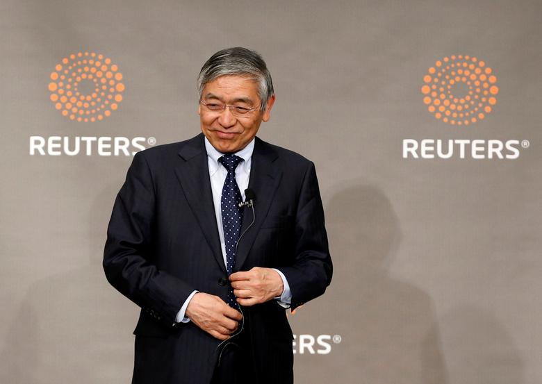 FILE PHOTO: Bank of Japan (BOJ) Governor Haruhiko Kuroda attends a Reuters Newsmaker event in Tokyo, Japan March 24, 2017. REUTERS/Toru Hanai