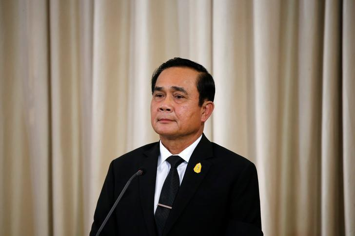 Thailand's Prime Minister Prayuth Chan-ocha attends a news conference with Philippine President Rodrigo Duterte at the Government House in Bangkok, Thailand March 21, 2017.  REUTERS/Jorge Silva