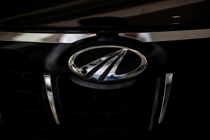 FILE PHOTO -  The logo of Mahindra and Mahindra is seen on a car at a showroom in Mumbai, India, August 30, 2016.   REUTERS/Danish Siddiqui/File Photo