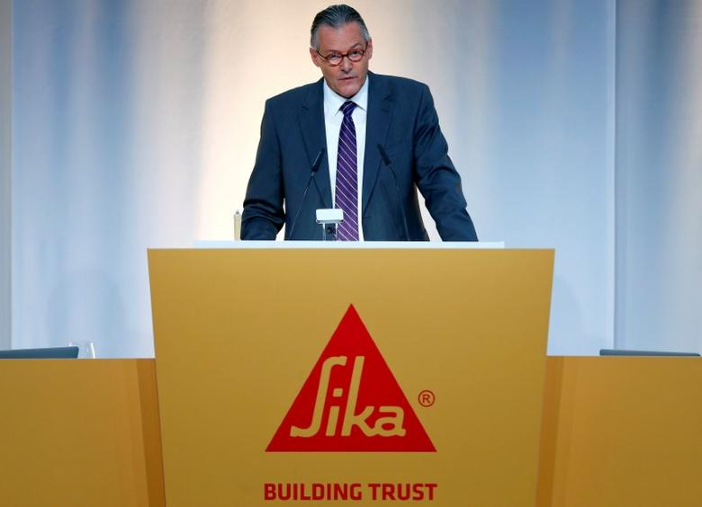 Paul Haelg, chairman of the board of Swiss chemicals group Sika, addresses the company's annual shareholder meeting in Baar, Switzerland April 11, 2017. REUTERS/Arnd Wiegmann
