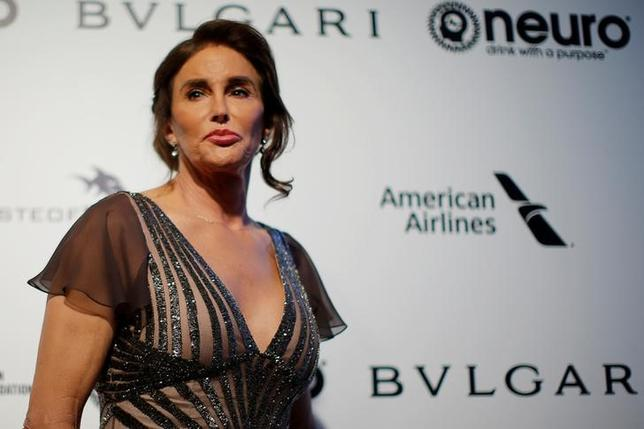Caitlyn Jenner poses for photographers at the 2017 Elton John AIDS Foundation Academy Awards Viewing Party in Los Angeles, California, U.S., February 26, 2017.   REUTERS/Brian Snyder/File Photo