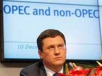 Russia's Energy Minister Alexander Novak addresses a news conference after a meeting of the Organization of the Petroleum Exporting Countries (OPEC) in Vienna, Austria, December 10, 2016. REUTERS/Heinz-Peter Bader
