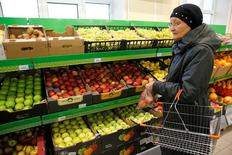 A customer shops at a grocery store operated by Russian food retailer Dixy Group in Moscow, Russia, October 20, 2016. REUTERS/Maxim Zmeyev