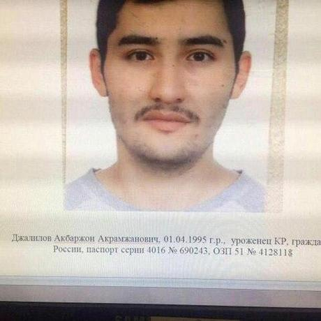 Suspect Akbarzhon Jalilov is shown in this police handout photo, obtained by 5th Channel, Russia April 4, 2017. 5th Channel Russia/via Reuters