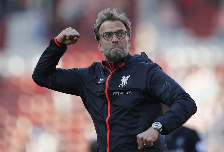 Britain Football Soccer - Stoke City v Liverpool - Premier League - bet365 Stadium - 8/4/17 Liverpool manager Juergen Klopp celebrates after the match  Reuters / Darren Staples Livepic