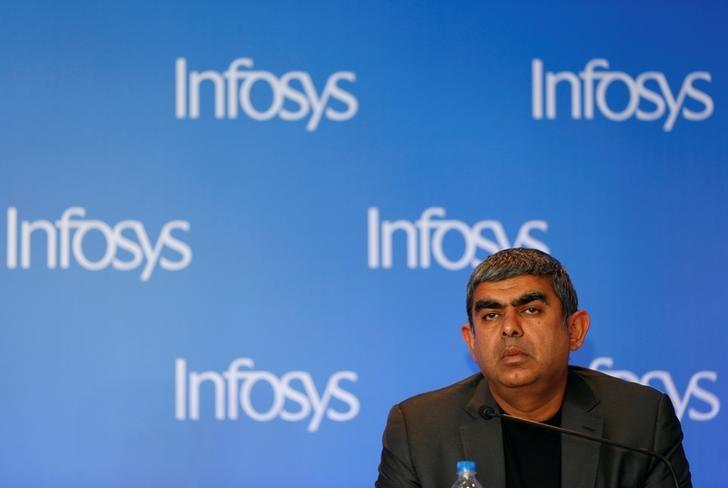 Infosys Chief Executive Vishal Sikka attends a news conference in Mumbai, India, February 13, 2017. REUTERS/Danish Siddiqui