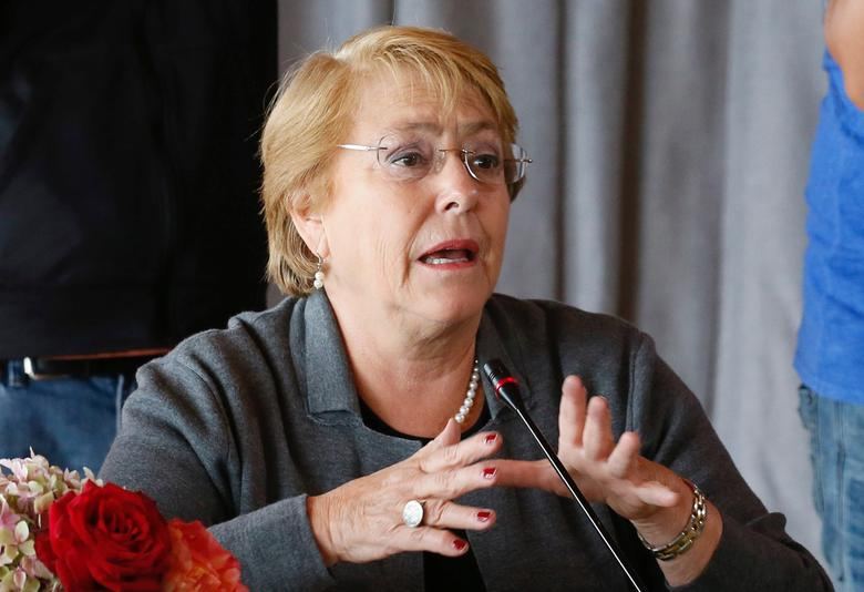 FILE PHOTO: Chile's President Michelle Bachelet speaks during a meeting with her cabinet at the presidential palace of Cerro Castillo in Vina del Mar, Chile March 24, 2017. REUTERS/Rodrigo Garrido