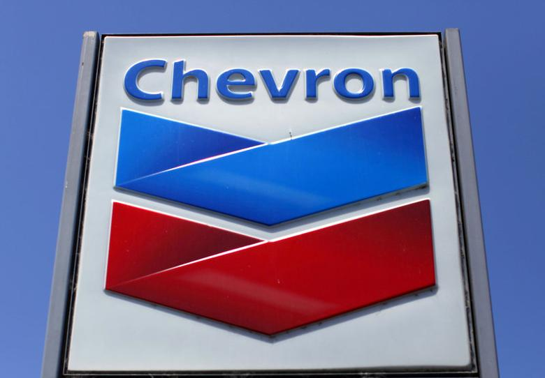 FILE PHOTO -  A Chevron gas station sign is seen in Del Mar, California, April 25, 2013. REUTERS/Mike Blake/File Photo