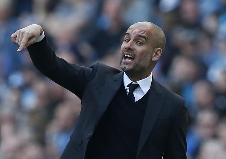 Britain Football Soccer - Manchester City v Hull City - Premier League - Etihad Stadium - 8/4/17 Manchester City manager Pep Guardiola Reuters / Andrew Yates Livepic