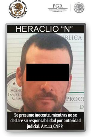 Handout photo of a man involved in the 2010 slaying of U.S. Border Patrol agent Brian Terry, in a case tied to the government's ill-fated ''Fast and Furious'' gun-running sting operation, distributed on April 13, 2017 by Mexico's Navy (SEMAR). The words read, ''Presumed innocent until proven guilty''. SEMAR/Handout via REUTERS
