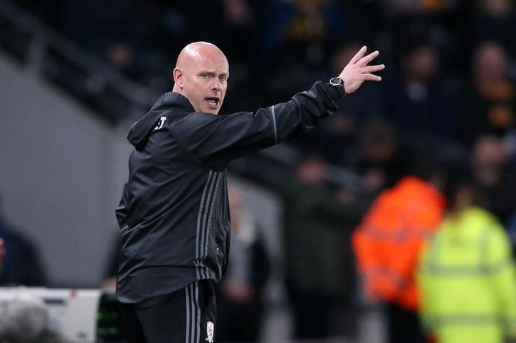 Britain Soccer Football - Hull City v Middlesbrough - Premier League - The Kingston Communications Stadium - 5/4/17 Middlesbrough caretaker manager Steve Agnew  Reuters / Scott Heppell Livepic