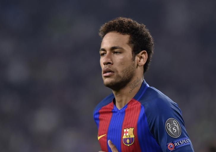 Football Soccer - Juventus v FC Barcelona - UEFA Champions League Quarter Final First Leg - Juventus Stadium, Turin, Italy - 11/4/17 Barcelona's Neymar looks on Reuters / Giorgio Perottino Livepic/Files