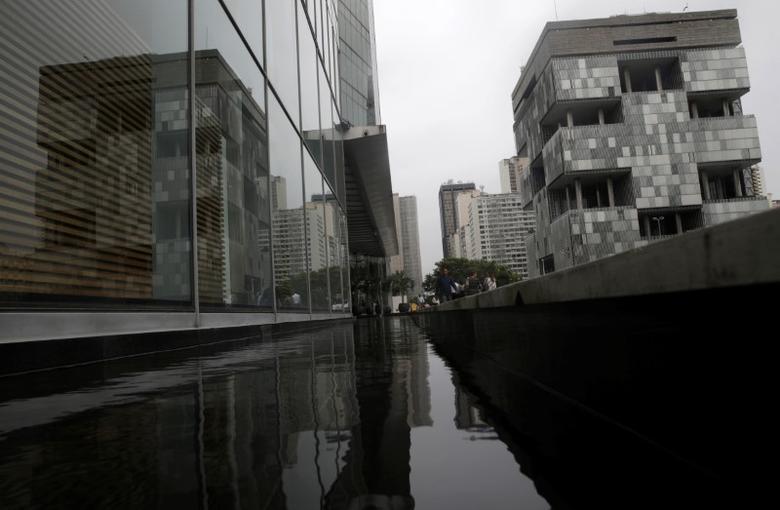 The Brazil's state-run Petrobras oil company headquarters (R) is pictured in Rio de Janeiro, Brazil, April 13, 2017. REUTERS/Ricardo Moraes