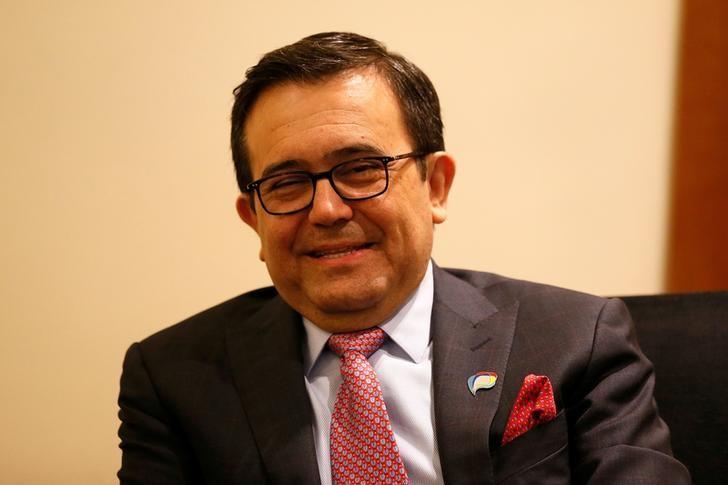 2017年3月14日,智利Vina del Mar,墨西哥经济部长Ildefonso Guajardo出席太平洋联盟会议。REUTERS/Rodrigo Garrido