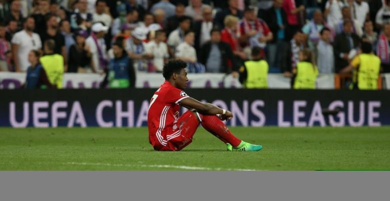 Football Soccer - Real Madrid v Bayern Munich - UEFA Champions League Quarter Final Second Leg - Estadio Santiago Bernabeu, Madrid, Spain - 18/4/17 Bayern Munich's David Alaba looks dejected after the match  Reuters / Sergio Perez Livepic - RTS12UQJ