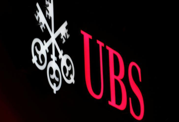 The logo of Swiss bank UBS is seen in St. Moritz, Switzerland, February 10, 2017.    REUTERS/Stefano Rellandini