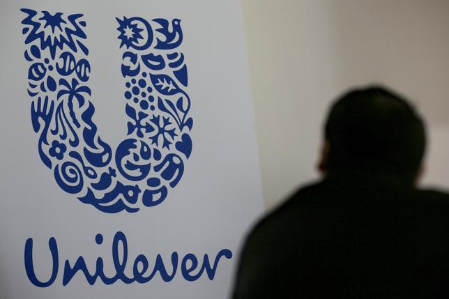 The logo of the Unilever group is seen at the Miko factory in Saint-Dizier, France, May 4, 2016. REUTERS/Philippe Wojazer/Files