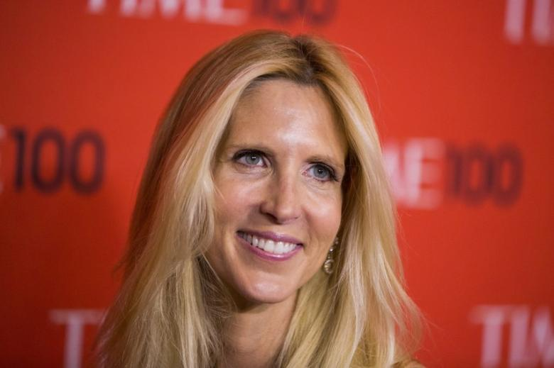 Journalist Ann Coulter arrives at the Time 100 gala celebrating the magazine's naming of the 100 most influential people in the world for the past year, in New York April 29, 2014. REUTERS/Lucas Jackson (UNITED STATES - Tags: ENTERTAINMENT MEDIA)