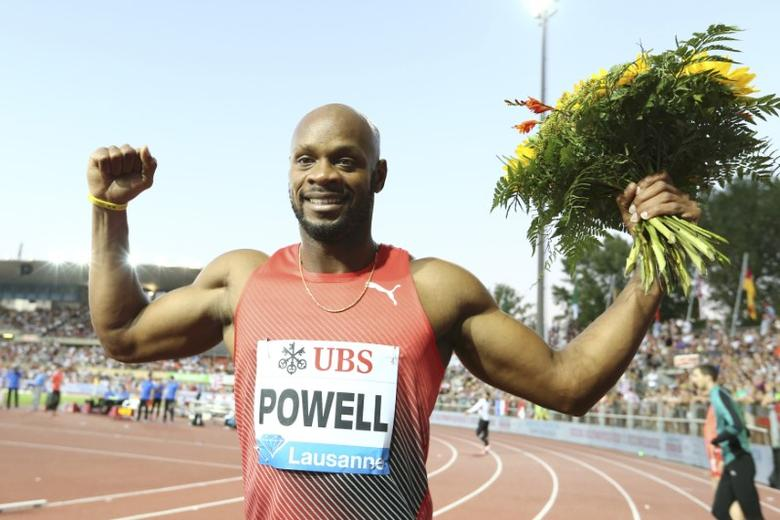 Athletics - IAAF Athletics Diamond League meeting Lausanne -  Stade Olympique de la Pontaise, Lausanne, Switzerland - 25/8/2016 - Asafa Powell of Jamaica celebrates winning the men's 100m competition. REUTERS/Denis Balibouse   Picture Supplied by Action Images