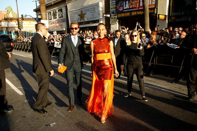 Actor Zoe Saldana. REUTERS/Danny Moloshok