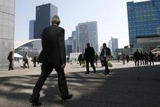 La tendance haussière de l'emploi des cadres s'est confirmée au premier trimestre en France, même si la prudence reste de mise pour les prévisions de recrutement des entreprises au deuxième trimestre. /Photo d'archives/REUTERS/Gonzalo Fuentes