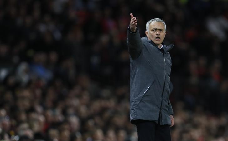 Britain Football Soccer - Manchester United v RSC Anderlecht - UEFA Europa League Quarter Final Second Leg - Old Trafford, Manchester, England - 20/4/17 Manchester United manager Jose Mourinho  Action Images via Reuters / Jason Cairnduff Livepic