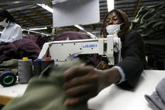 A Kenyan worker sews clothes for export at the Alltex export processing zone (EPZ) factory in Athi River, near the Kenyan capital Nairobi, file.     REUTERS/Thomas Mukoya